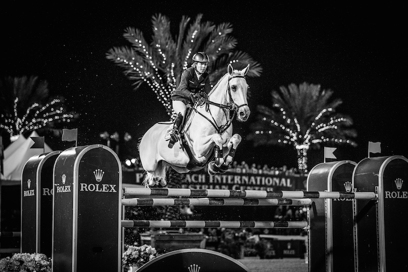 Meredith Micheals Berbaum and Fibonacci in Rolex Grand Prix, WEF